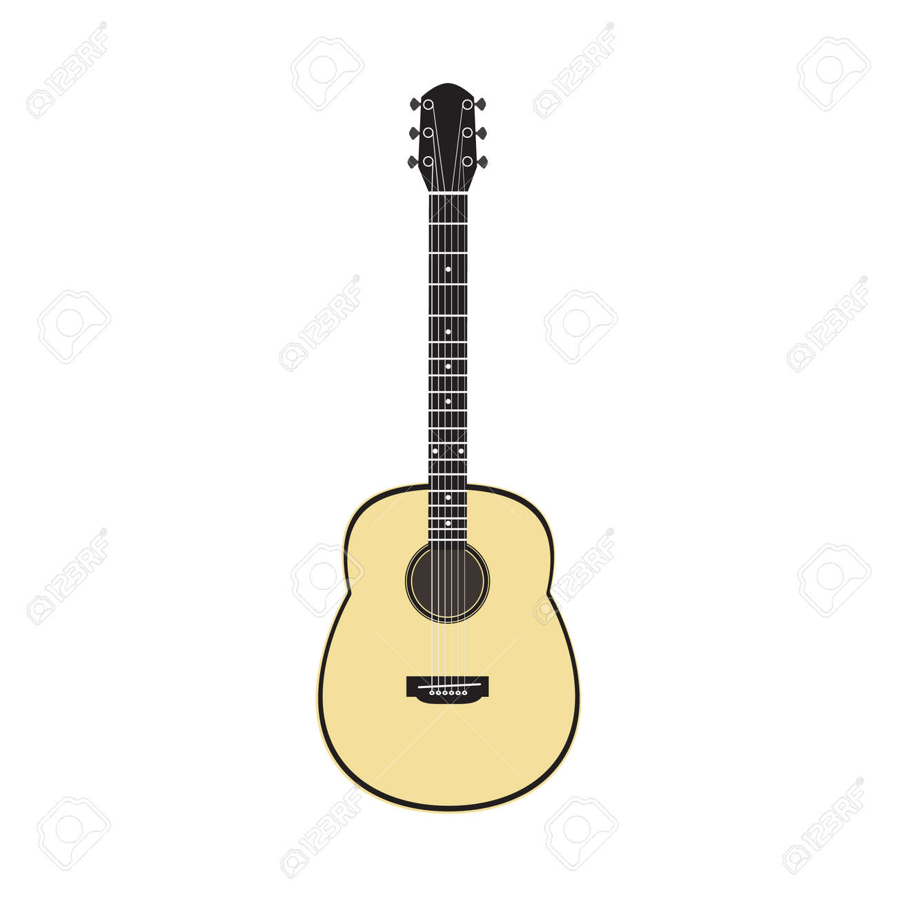 acoustic guitar vector royalty free cliparts vectors and stock rh 123rf com acoustic guitar vector silhouette acoustic guitar vector art