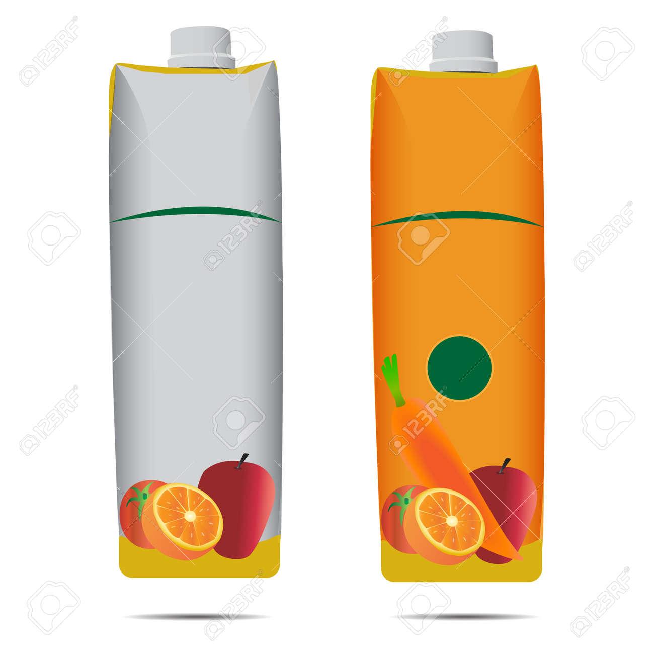 juice box carton template vector illustration royalty free cliparts