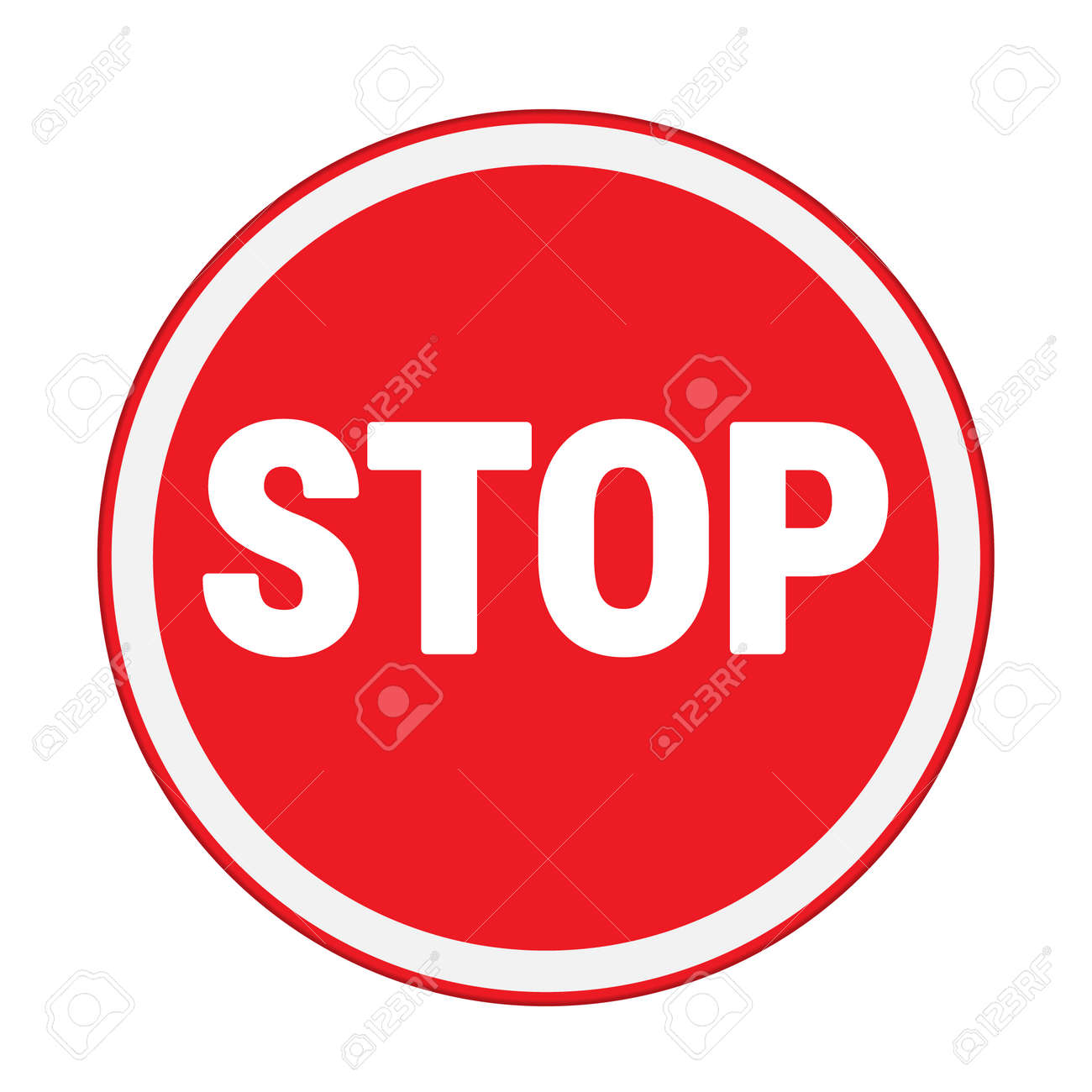 traffic sign stop sign circle isolated road warning royalty free rh 123rf com stop sign car logo stop sign logo design