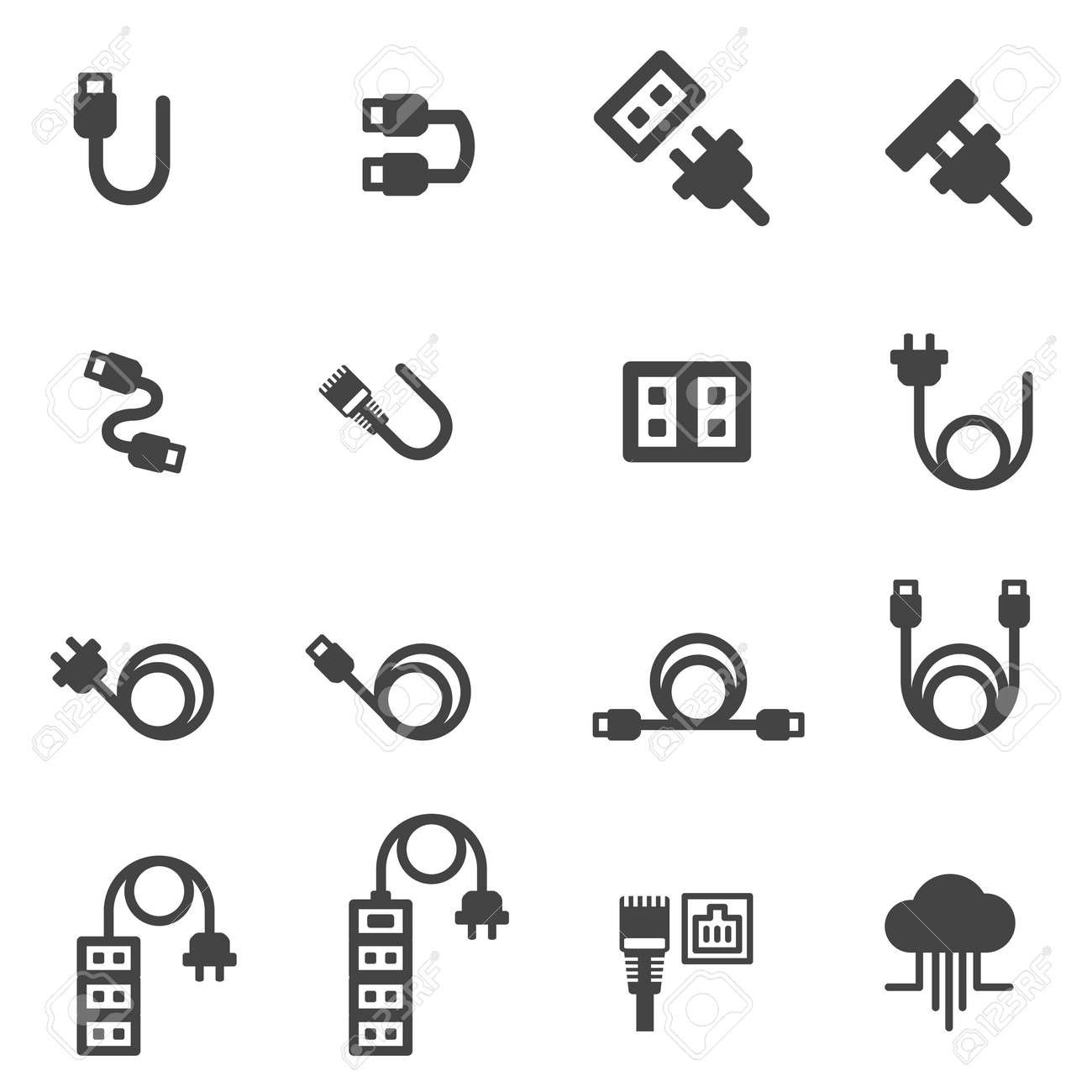 cable icons vector illustration - 80926857