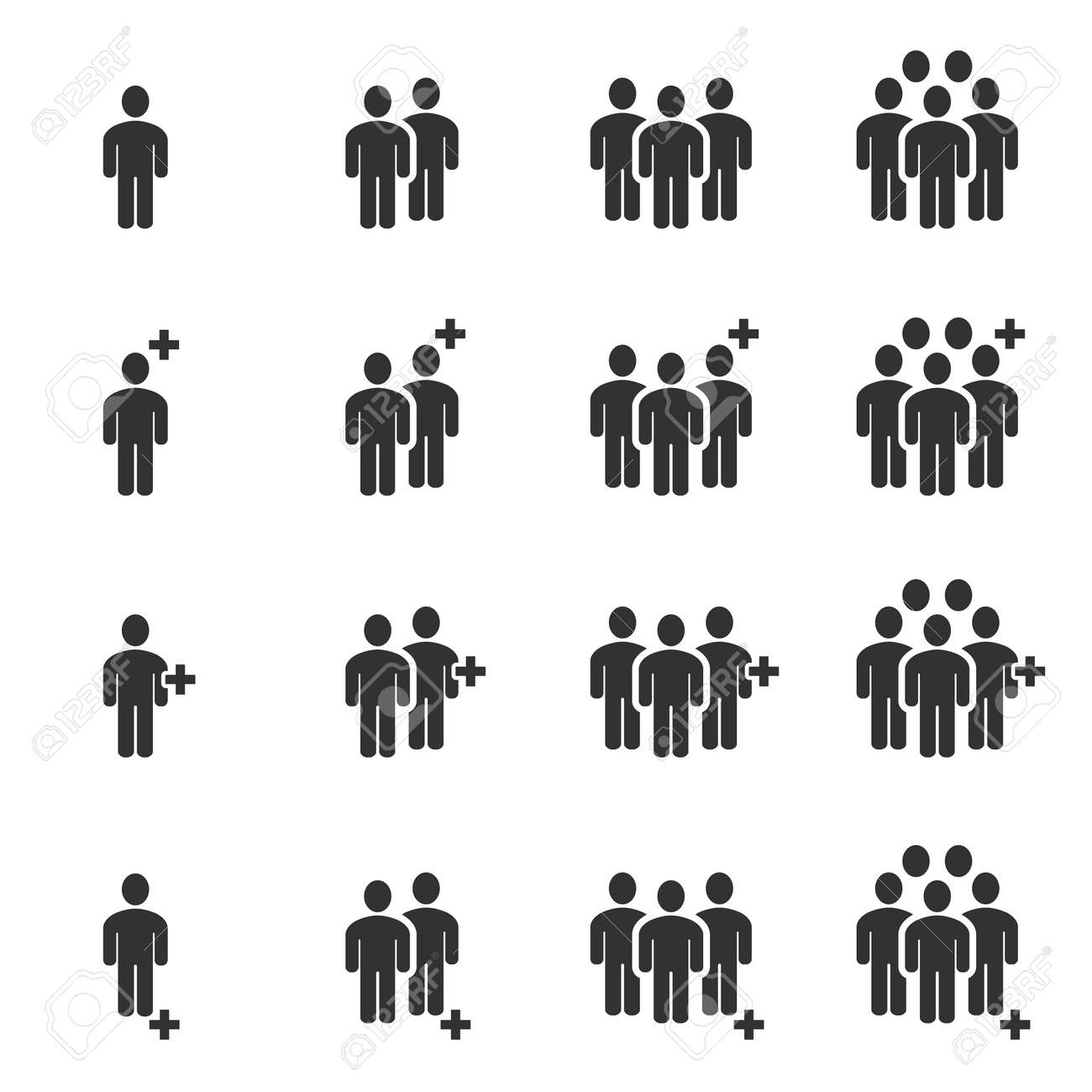 People Icons , Person work group Team Vector - 122520175