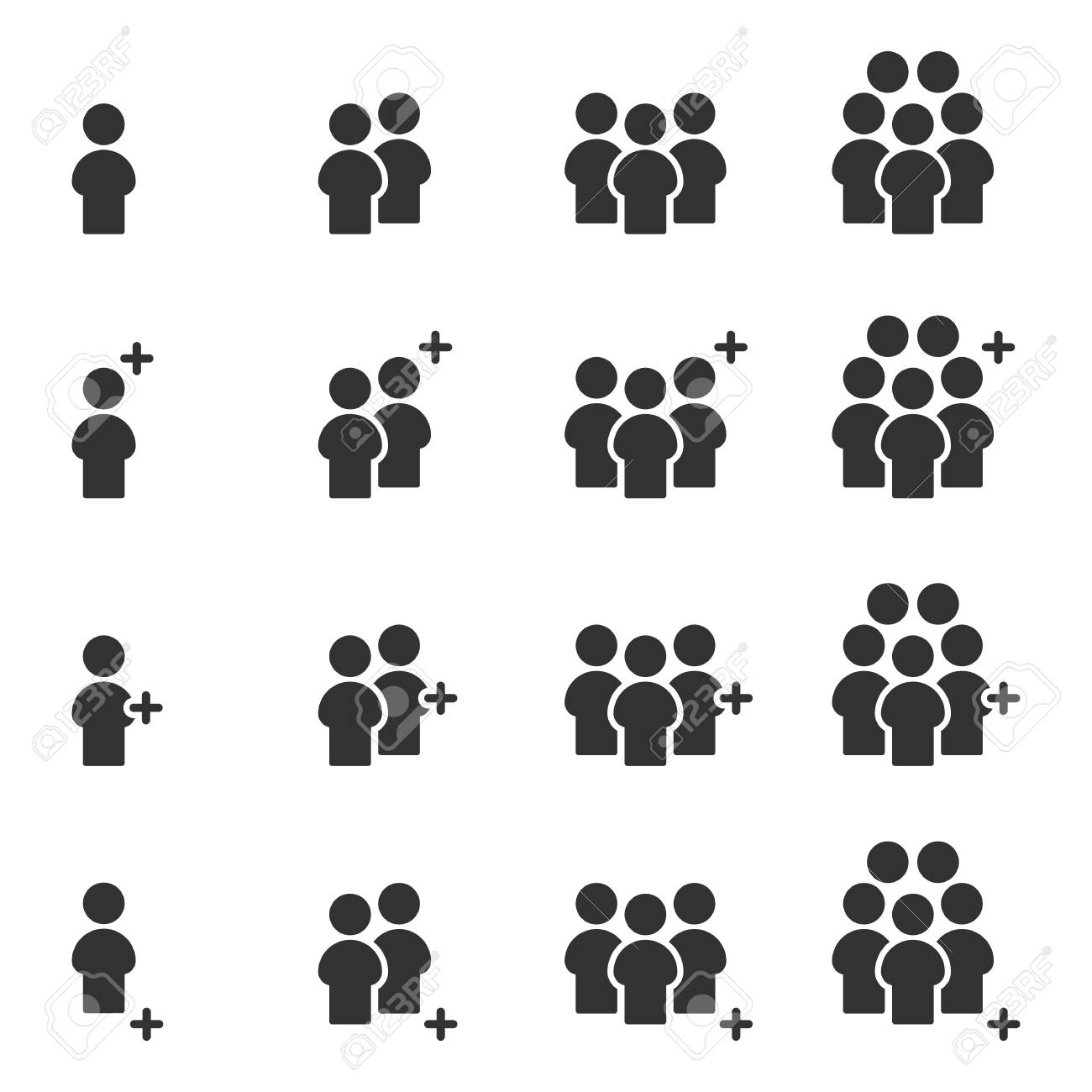 People Icons work group Team Vector - 123312503