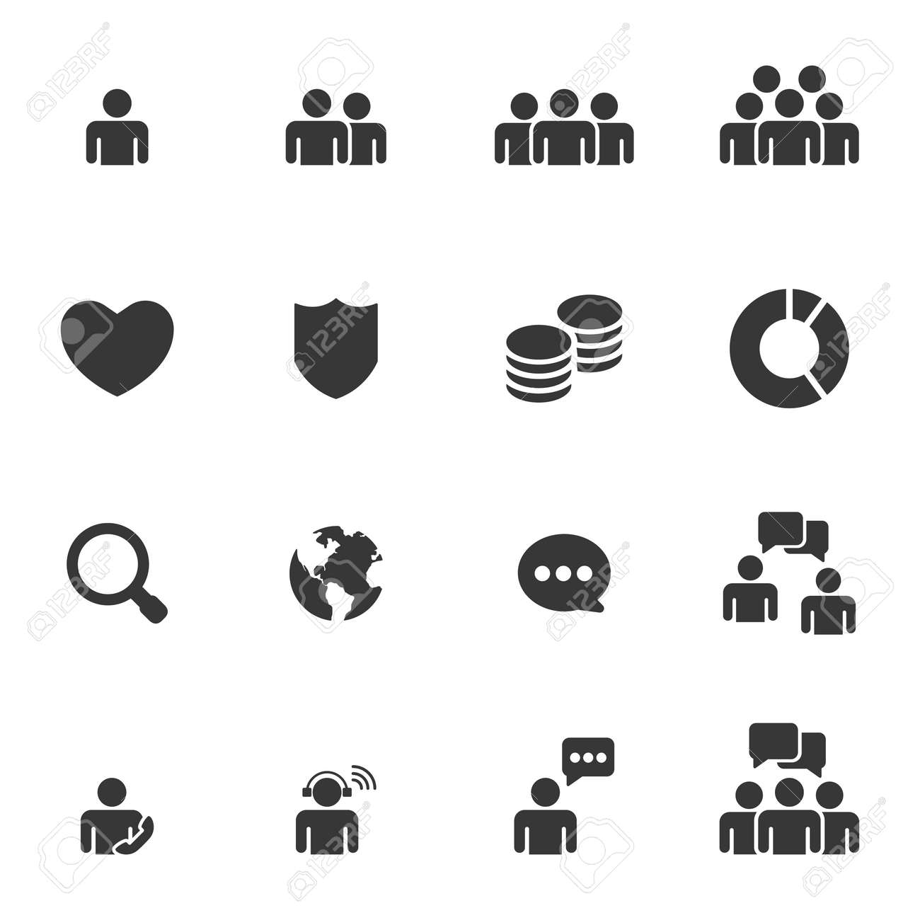 People Icons Business Vector - 155290282