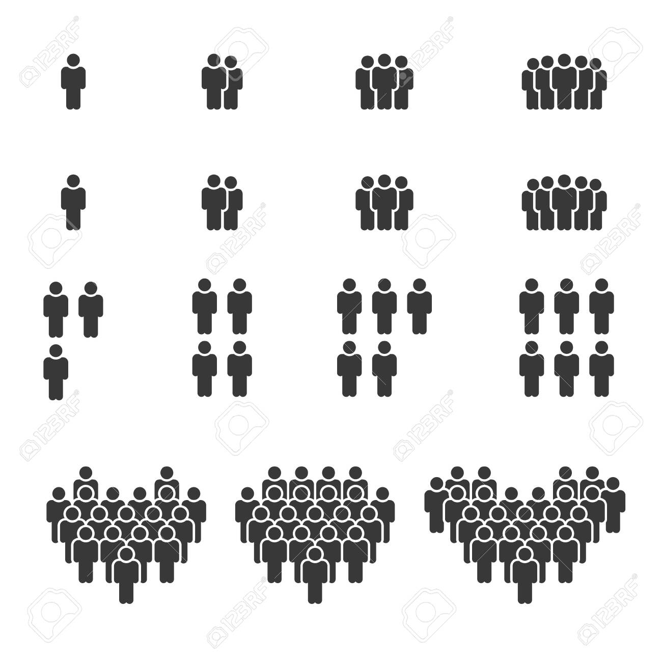 People Icons, Person work group Team Vector - 127179721