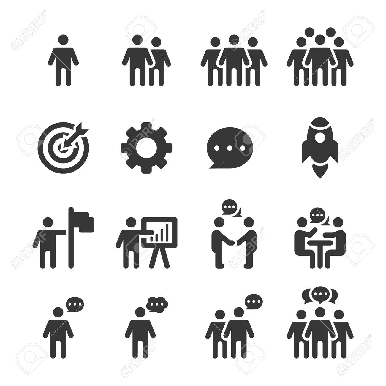 People Icons, Person work group Team Vector - 134588475