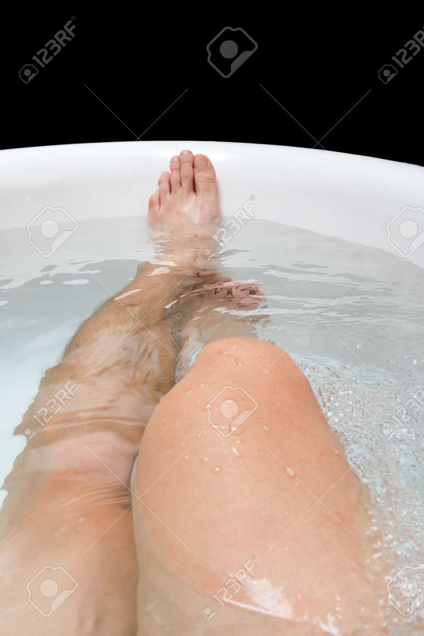 Male Legs In The Bathtub Stock Photo, Picture And Royalty Free Image ...
