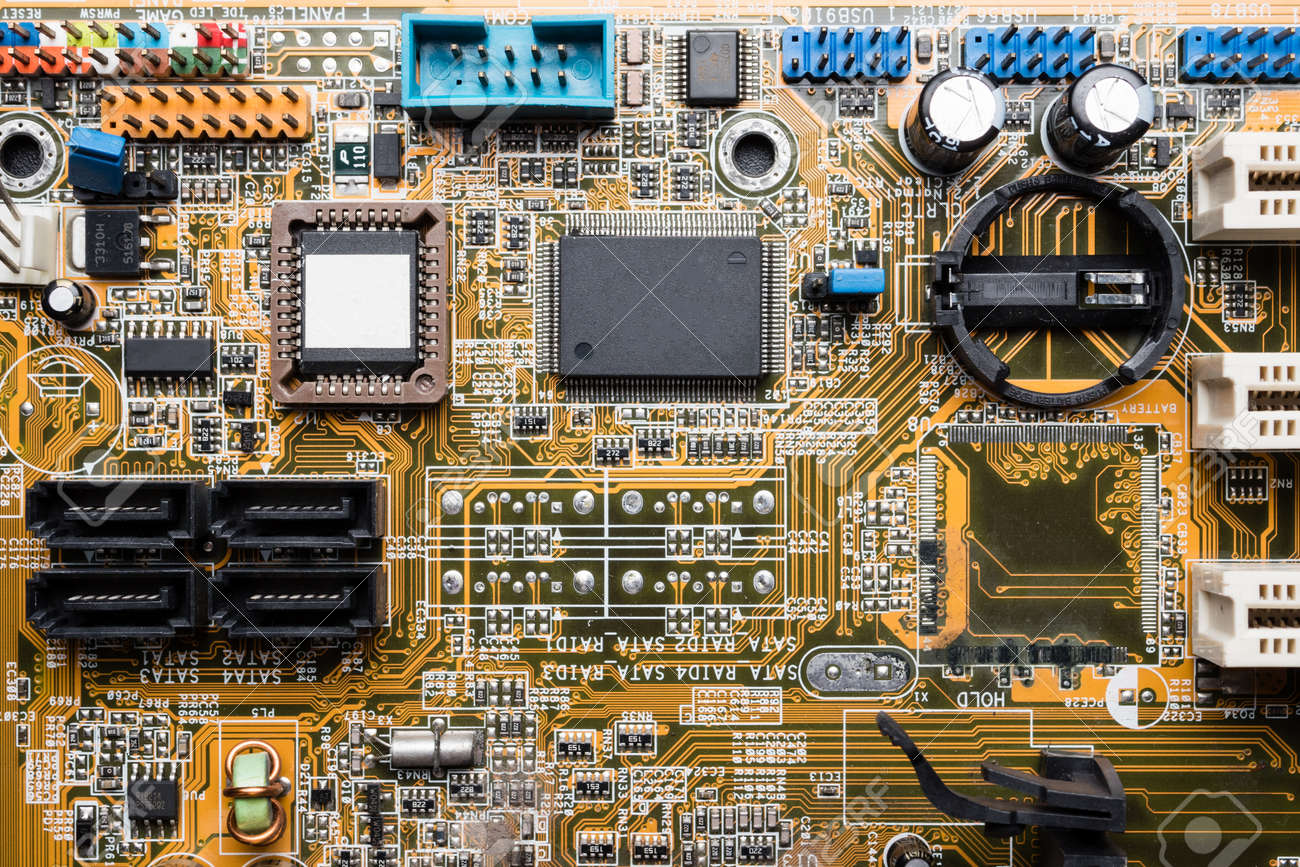 Computer Circuit Board Electronic Technology Background Stock With Electronics Components Royalty Free Photo 85108130