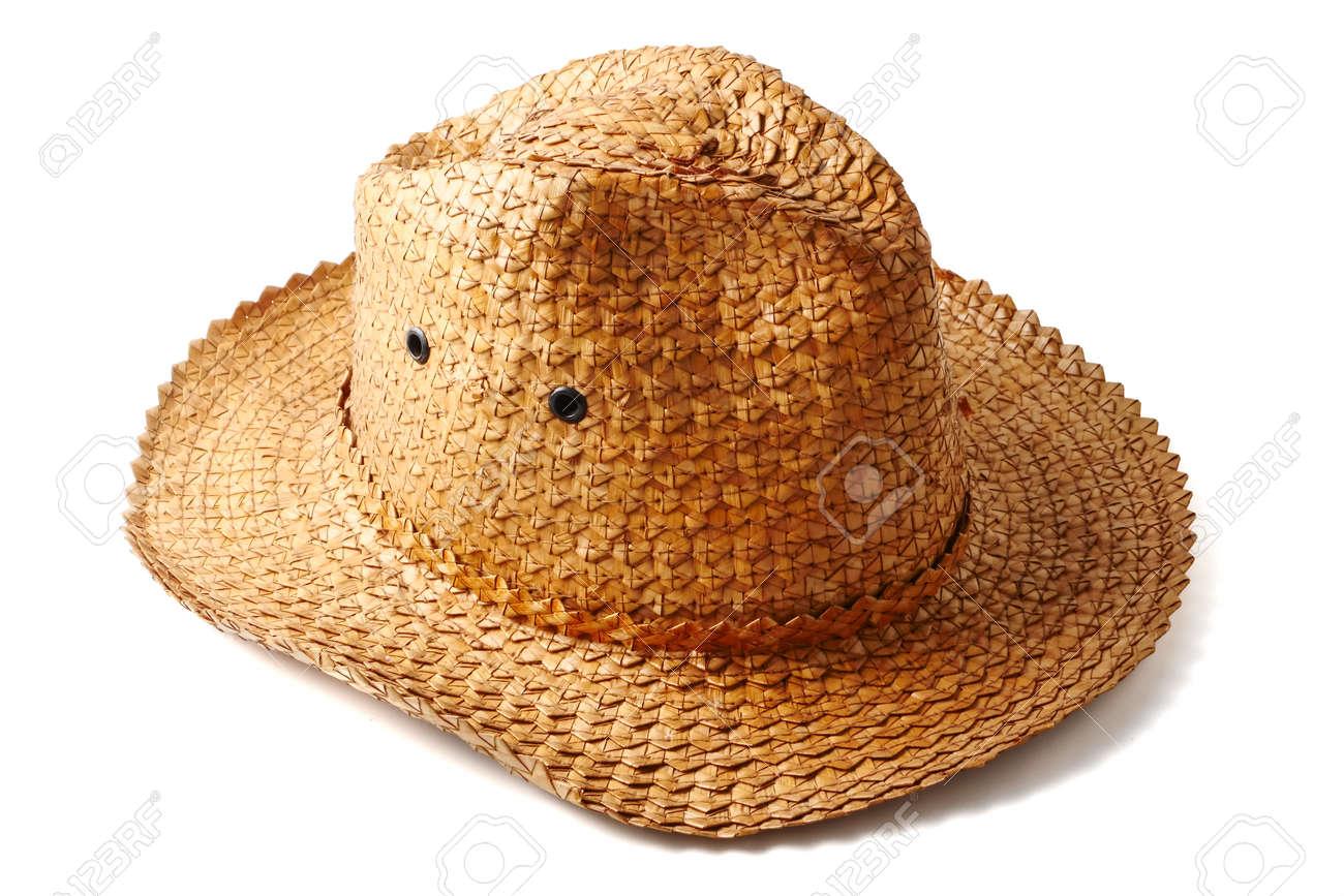 Handmade weaving hat on white background. Stock Photo - 85878095 4003df84171d