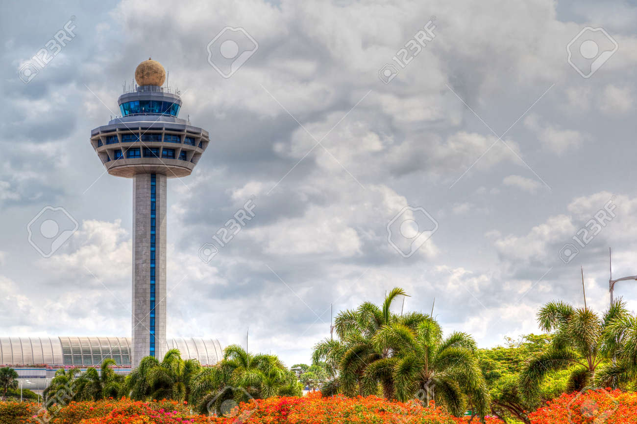 Hdr rendering of singapore changi international airport traffic hdr rendering of singapore changi international airport traffic controller tower with cloudy skies in the background altavistaventures Images
