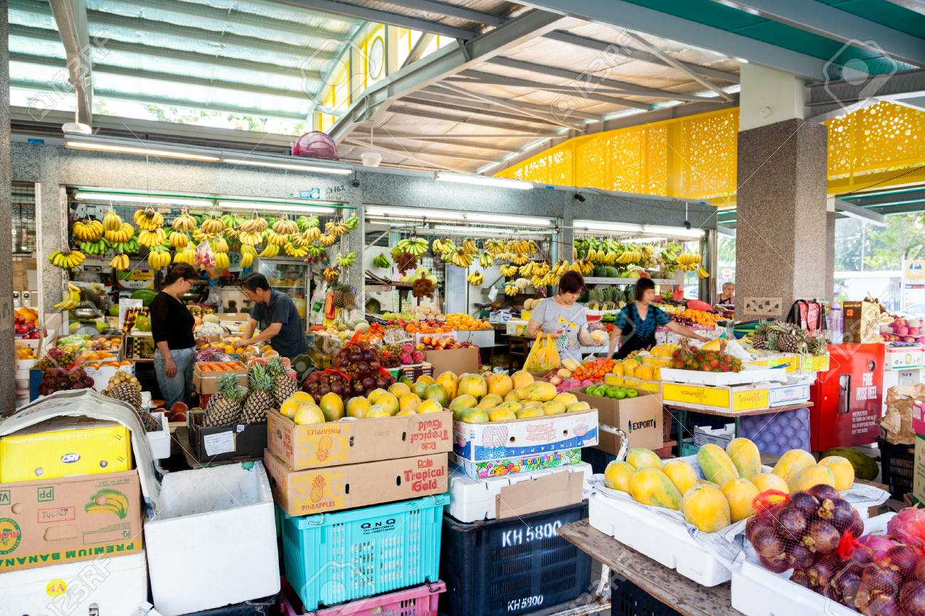 Singapore, Singapore - December 11, 2014: Local residents shopping