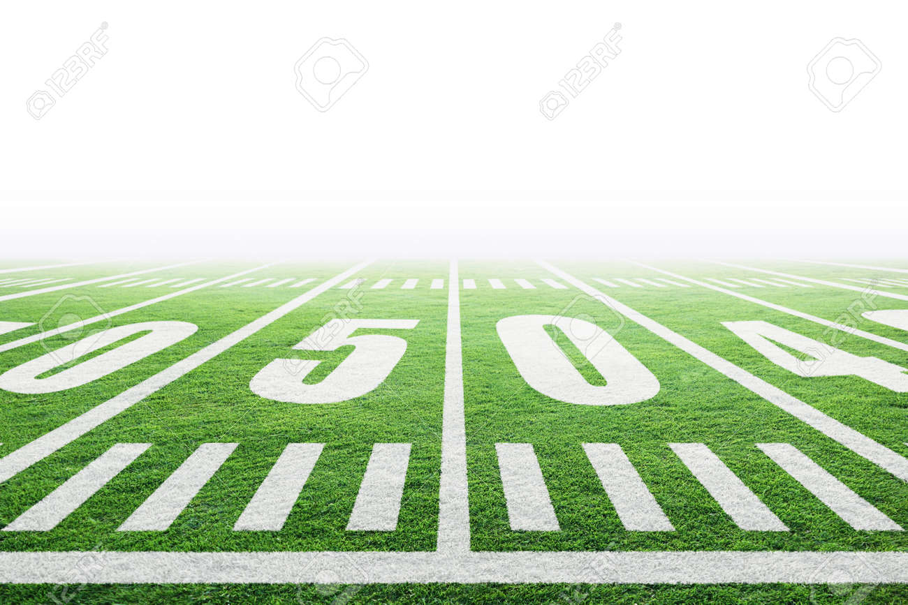 Close Up Of American Football Stadium Field With Yard Line Markings Stock Photo Picture And Royalty Free Image Image 123219414