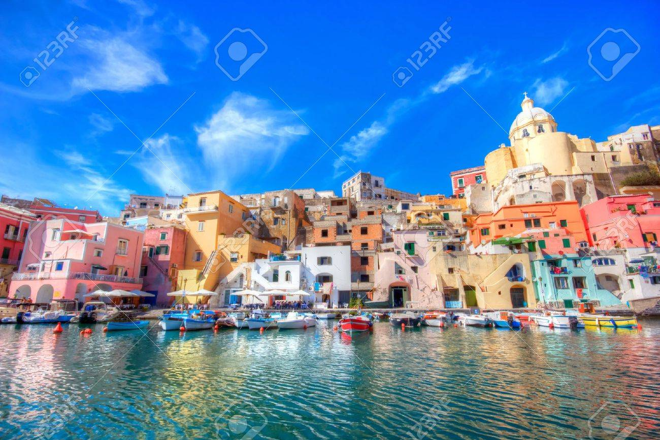 Beautiful island in the mediterranean sea coast, naples, italy - 10467284