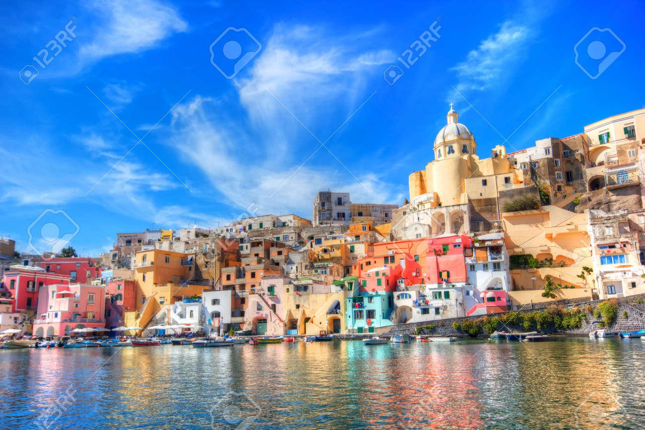 Beautiful island in the mediterranean sea coast, naples, italy - 10467283