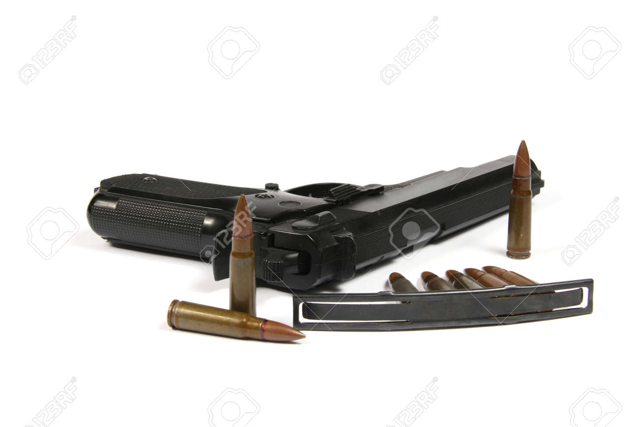 Gun with bullets Stock Photo - 11351382