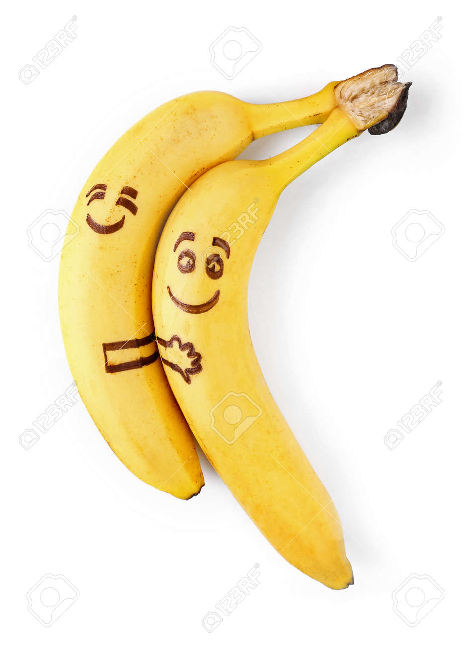 Bananas with smiley faces couple in love concept stock photo bananas with smiley faces couple in love concept stock photo 44326064 biocorpaavc