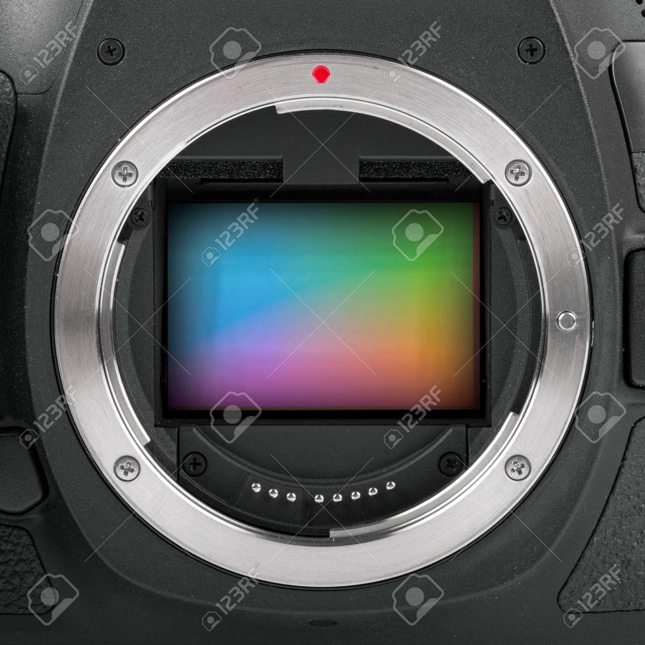 Primer Plano De Sensor De Cámara De Fotograma Completo Fotos ...