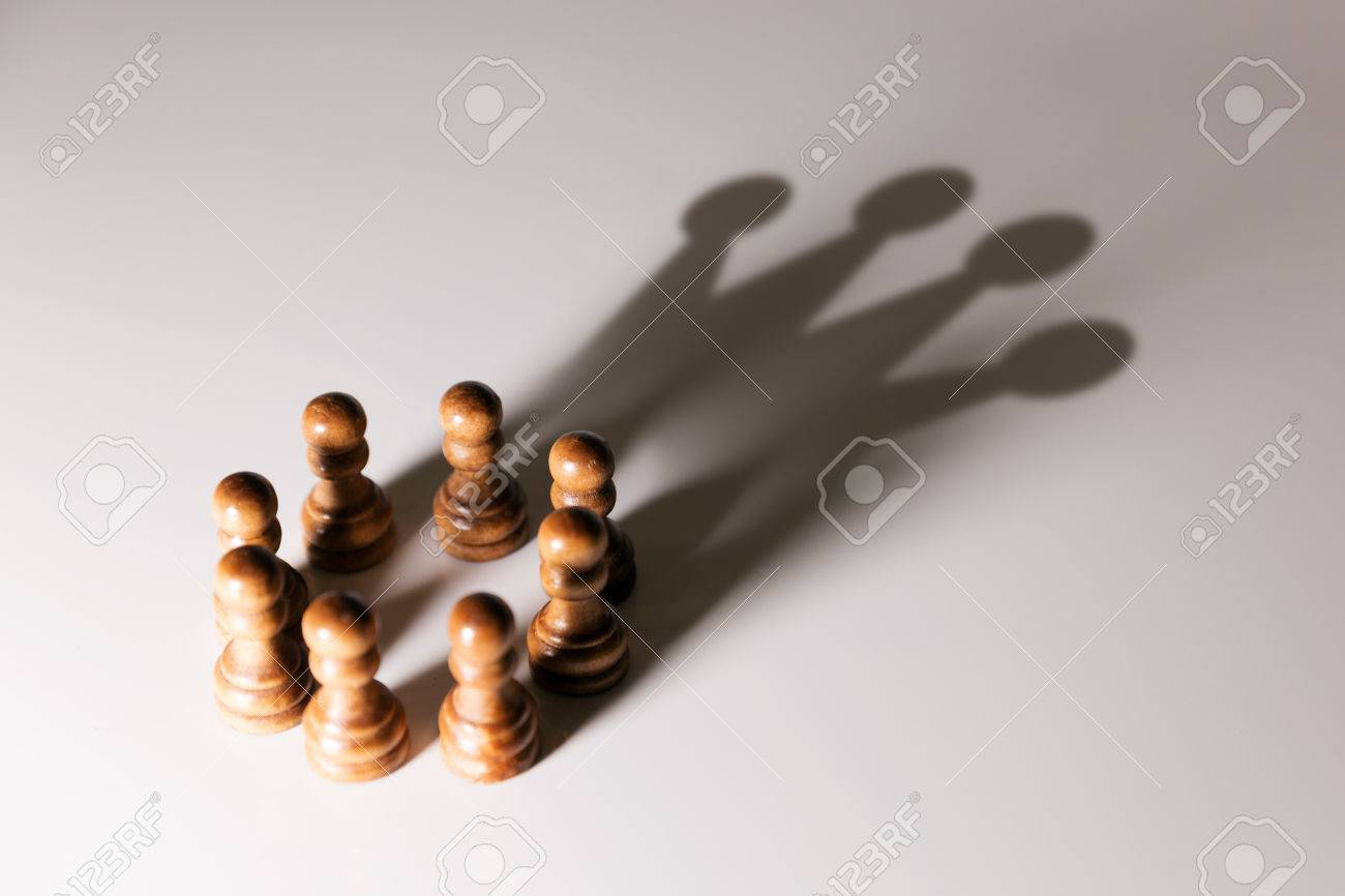 business leadership, teamwork power and confidence concept - 71738348