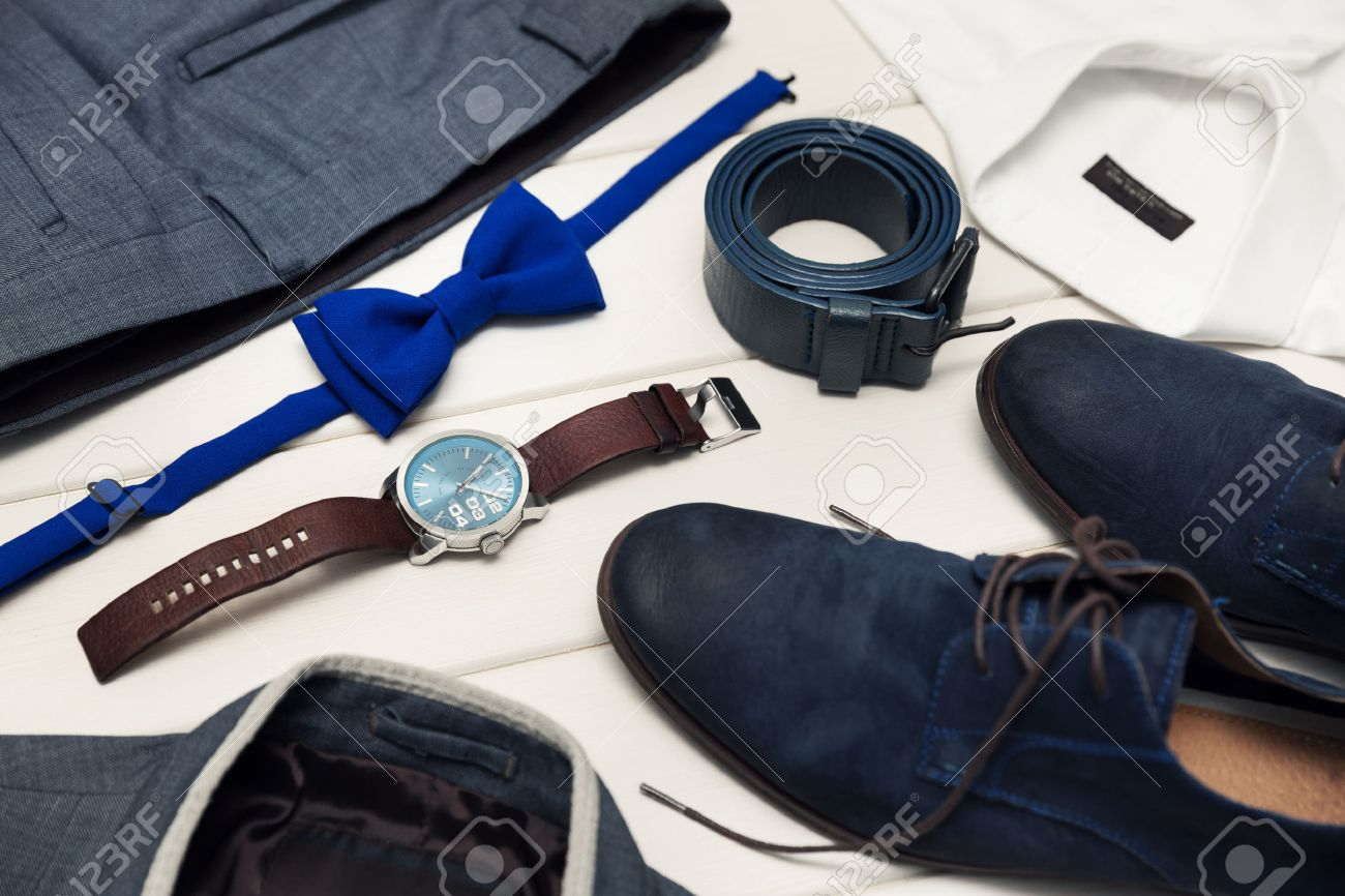 6ad097000 gentleman kit - men s fashion clothes and accessories Stock Photo - 71998746