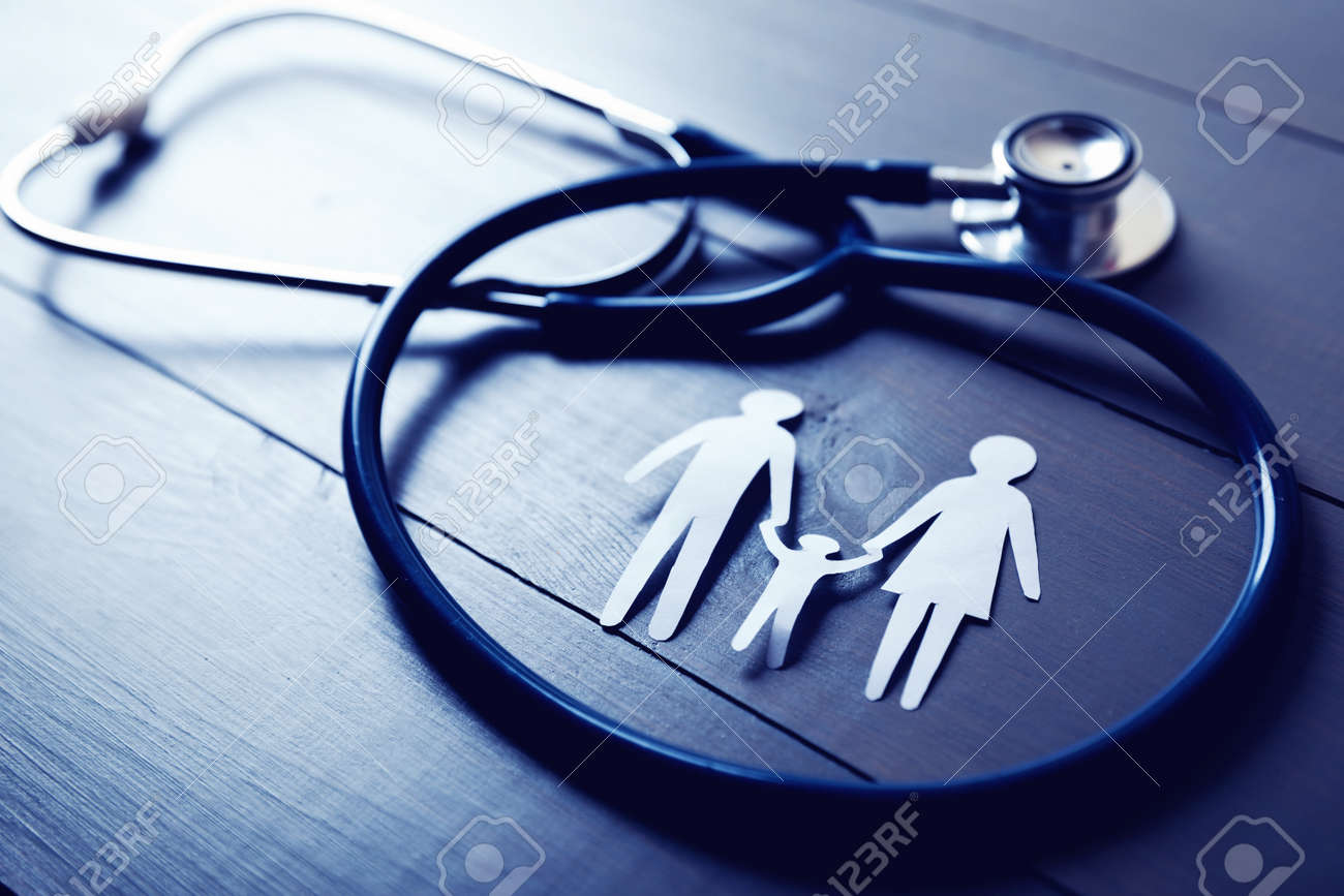 family health care and insurance concept - 89206415