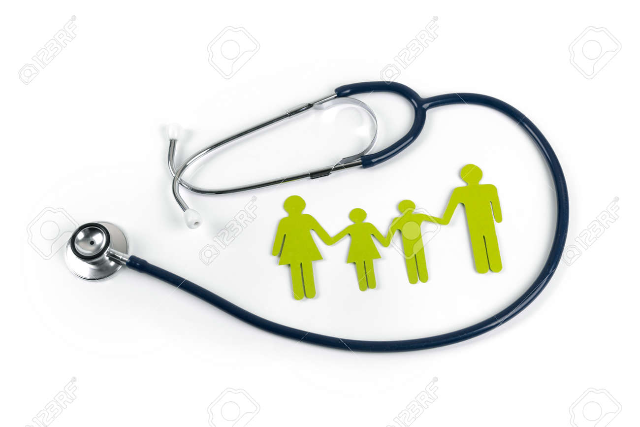 family life and health insurance concept - 101147388