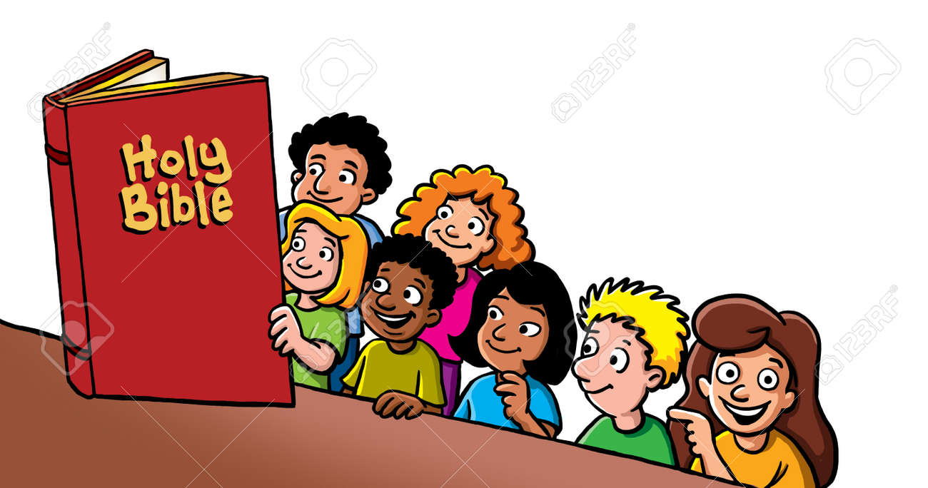 Children Reading Bible Stock Photo, Picture And Royalty Free Image ...