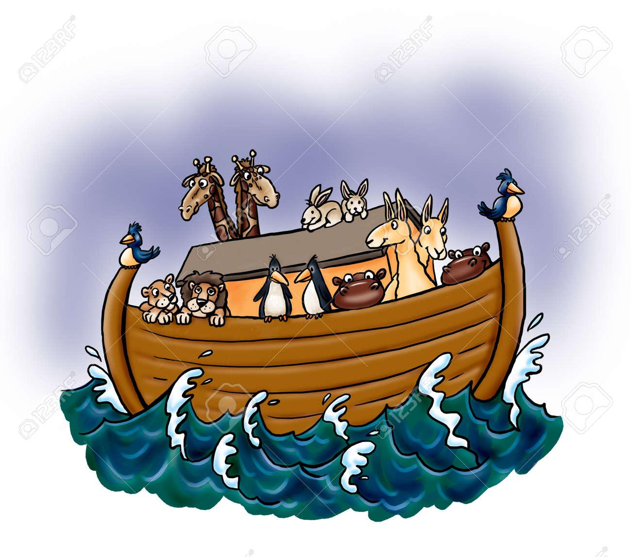 Noah's Ark with Animals - 126584161