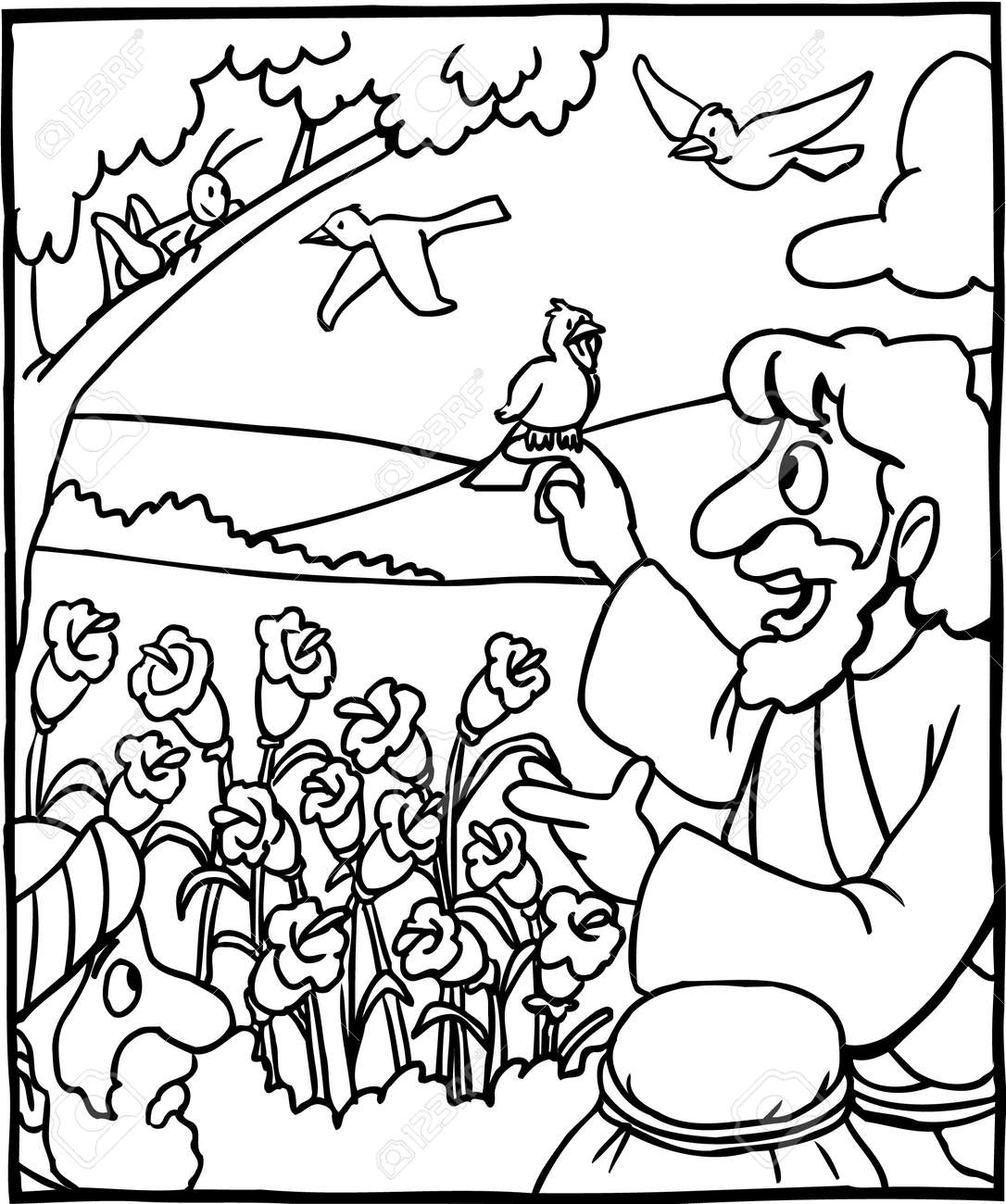 Good Shepherd Coloring Pages Free - Coloring Home | 1300x1085