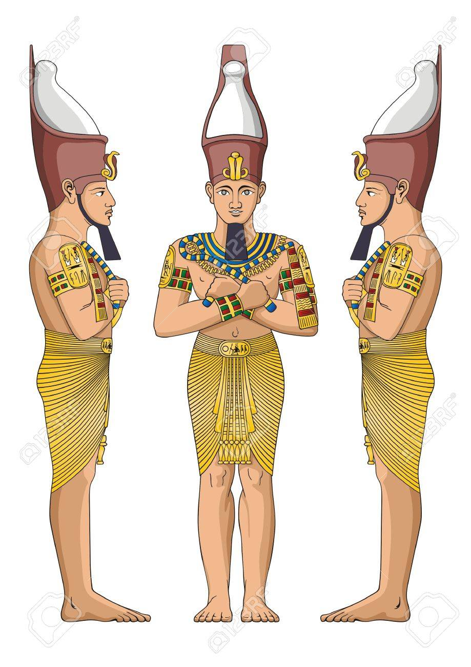 Ancient Egyptian nobility Stock Vector - 8015256