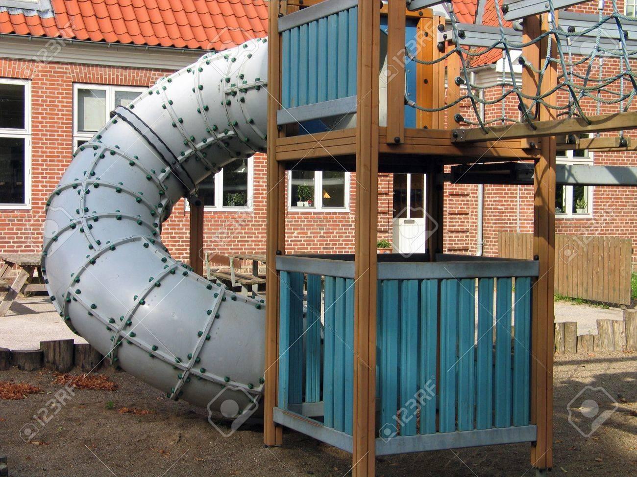 Modern Scandinavian design playground equipment Stock Photo - 1313143