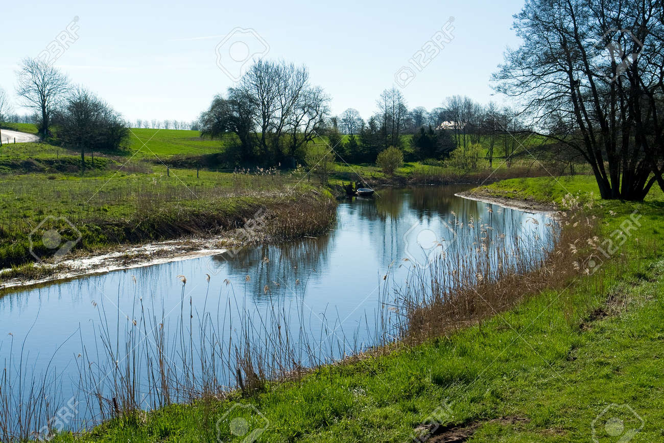 Beautiful countryside river summer landscape perfect nature background image Stock Photo - 10301223