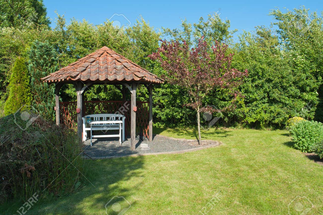 Beautiful Decorative Home Garden Yard Gazebo Pavilion In The Summer Imagens    14264471