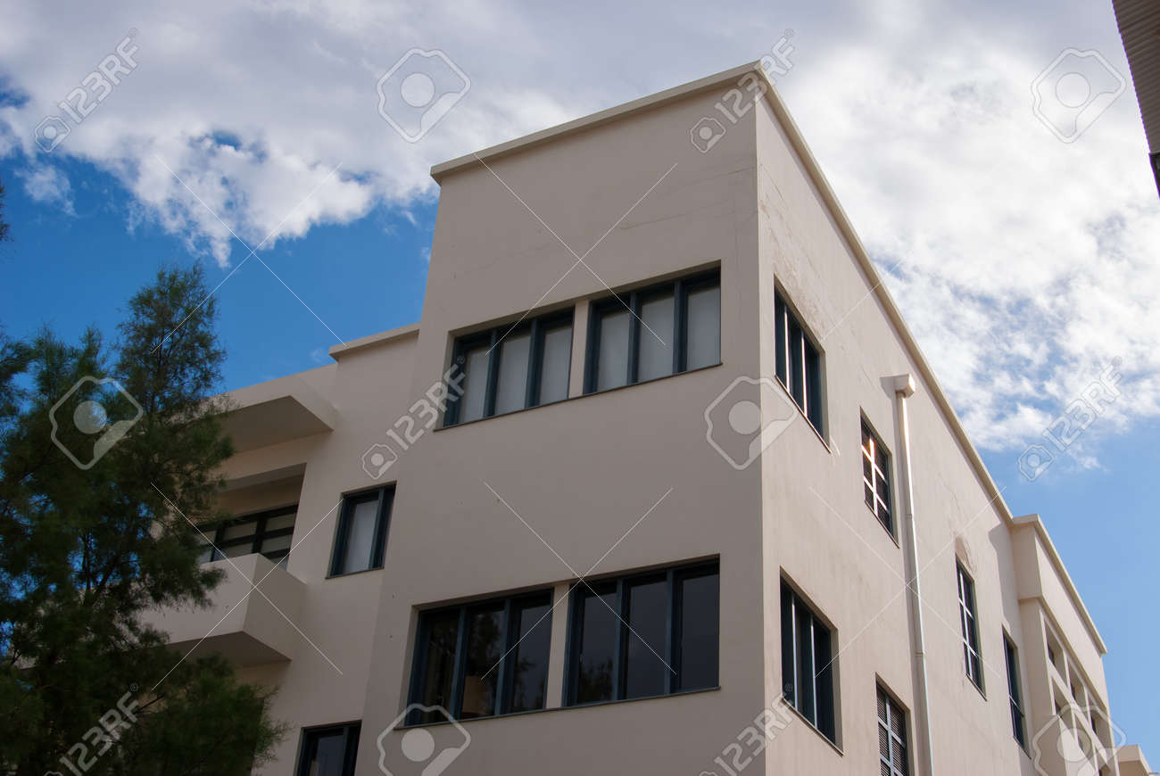 What Is Bauhaus Style house in classical traditional bauhaus style in the white