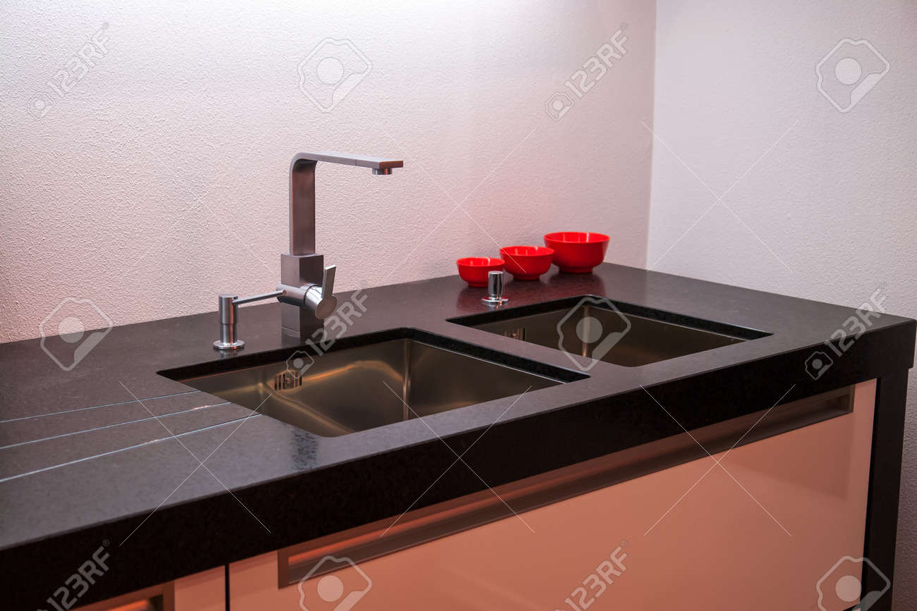 Details Of Modern Design Trendy Kitchen Sink With Water Tap Stock Photo Picture And Royalty Free Image Image 18061906