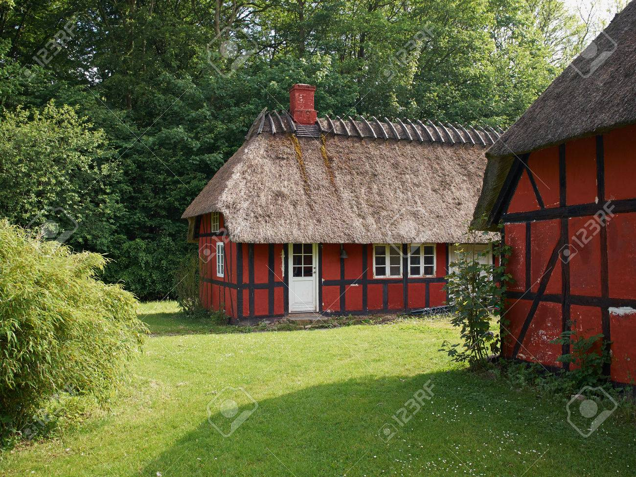 Traditional Vintage Country Style Halftimbered Thatched Roof - Vintage country house