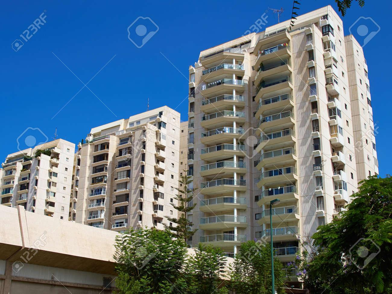 Modern design luxurious executive apartments city condominium building - 58920810