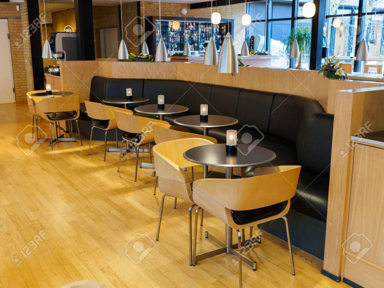 Modern Classical Design Coffee Shop Cafe Restaurant Interior Stock Photo Picture And Royalty Free Image Image 75036280
