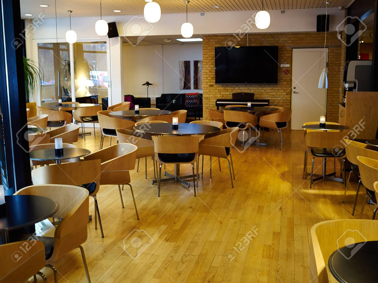 Modern Classical Design Coffee Shop Cafe Restaurant Interior Stock Photo Picture And Royalty Free Image Image 73983910