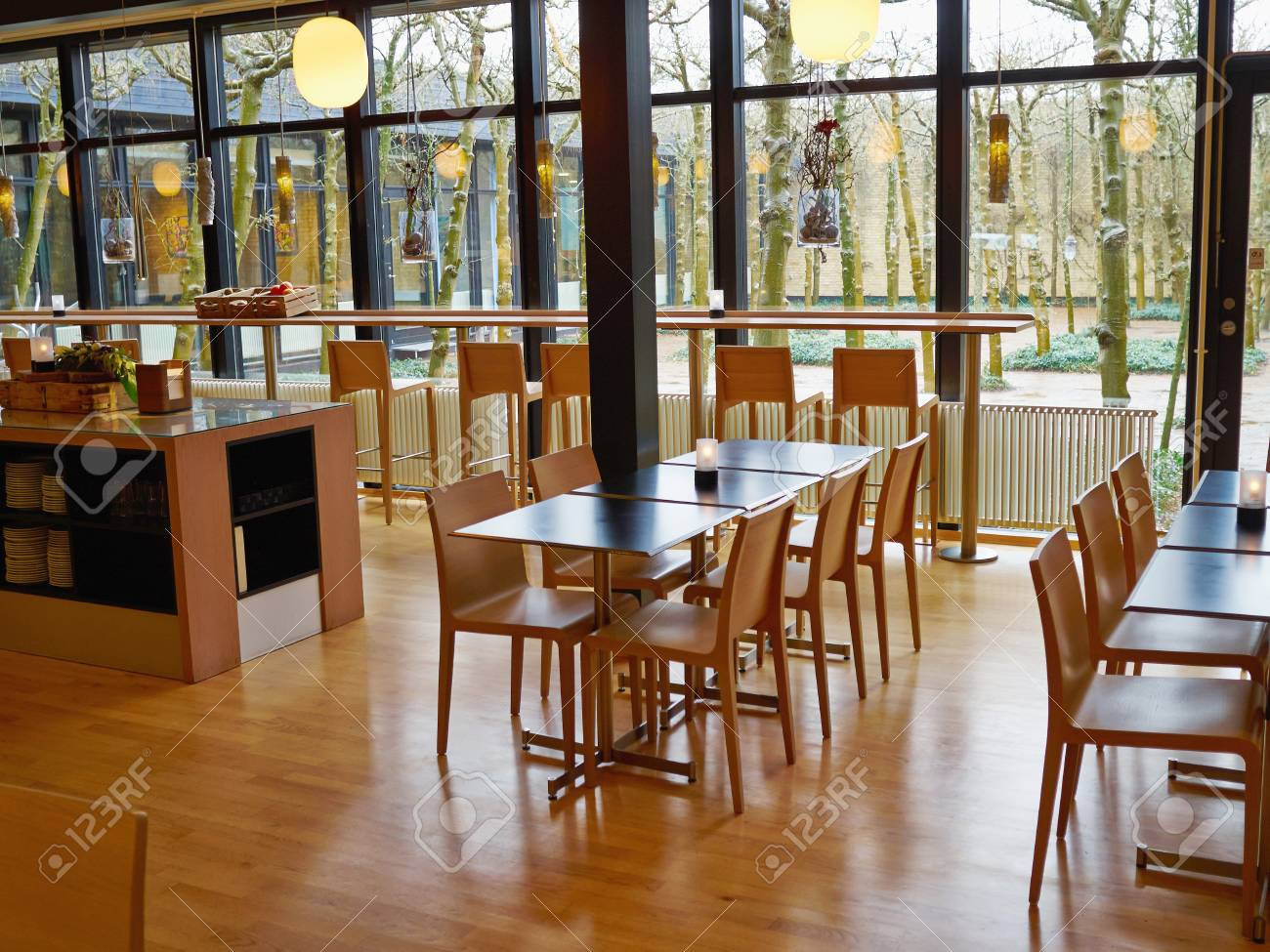 Modern Classical Design Coffee Shop Cafe Restaurant Interior Stock Photo Picture And Royalty Free Image Image 75429008