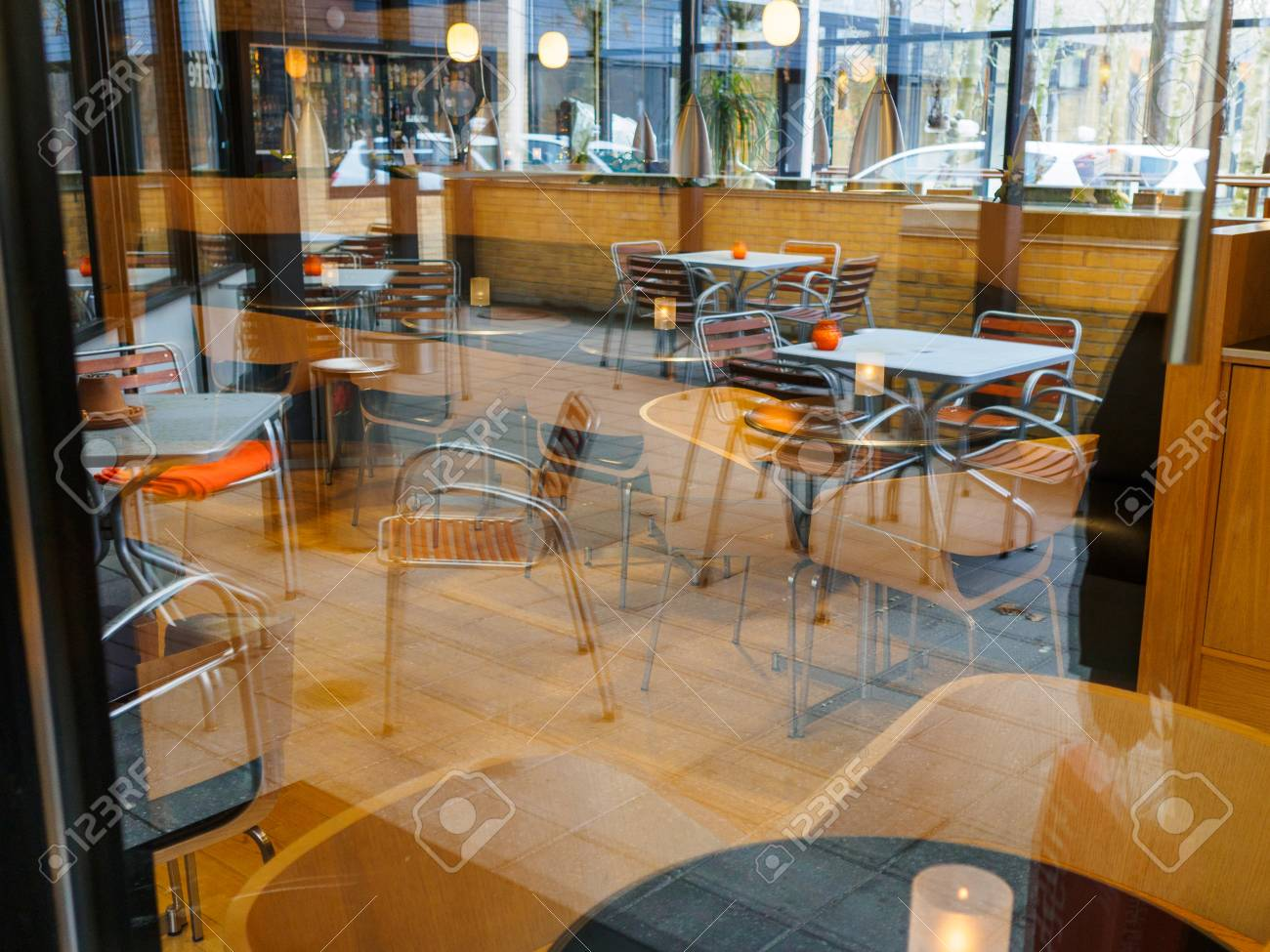 Modern Classical Design Coffee Shop Cafe Restaurant Interior Stock Photo Picture And Royalty Free Image Image 75036281