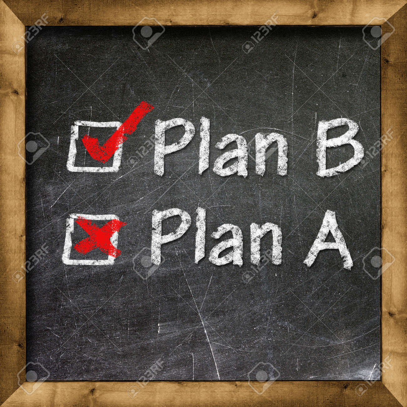 Plan A Plan B choice Stock Photo - 19094825