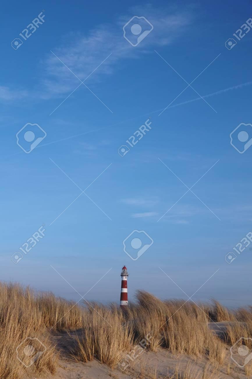 オランダのアーメラント島の灯台...
