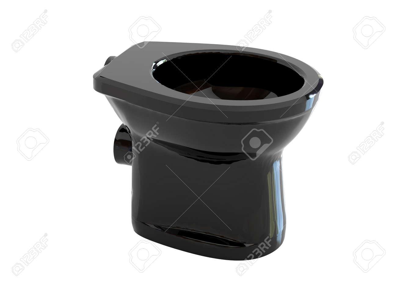 High resolution image black toilet bowl. 3d illustration over  white backgrounds. Stock Illustration - 2626075