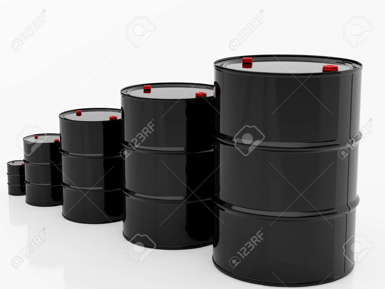High resolution image barrel. 3d illustration over  white backgrounds. Stock Photo - 3459381