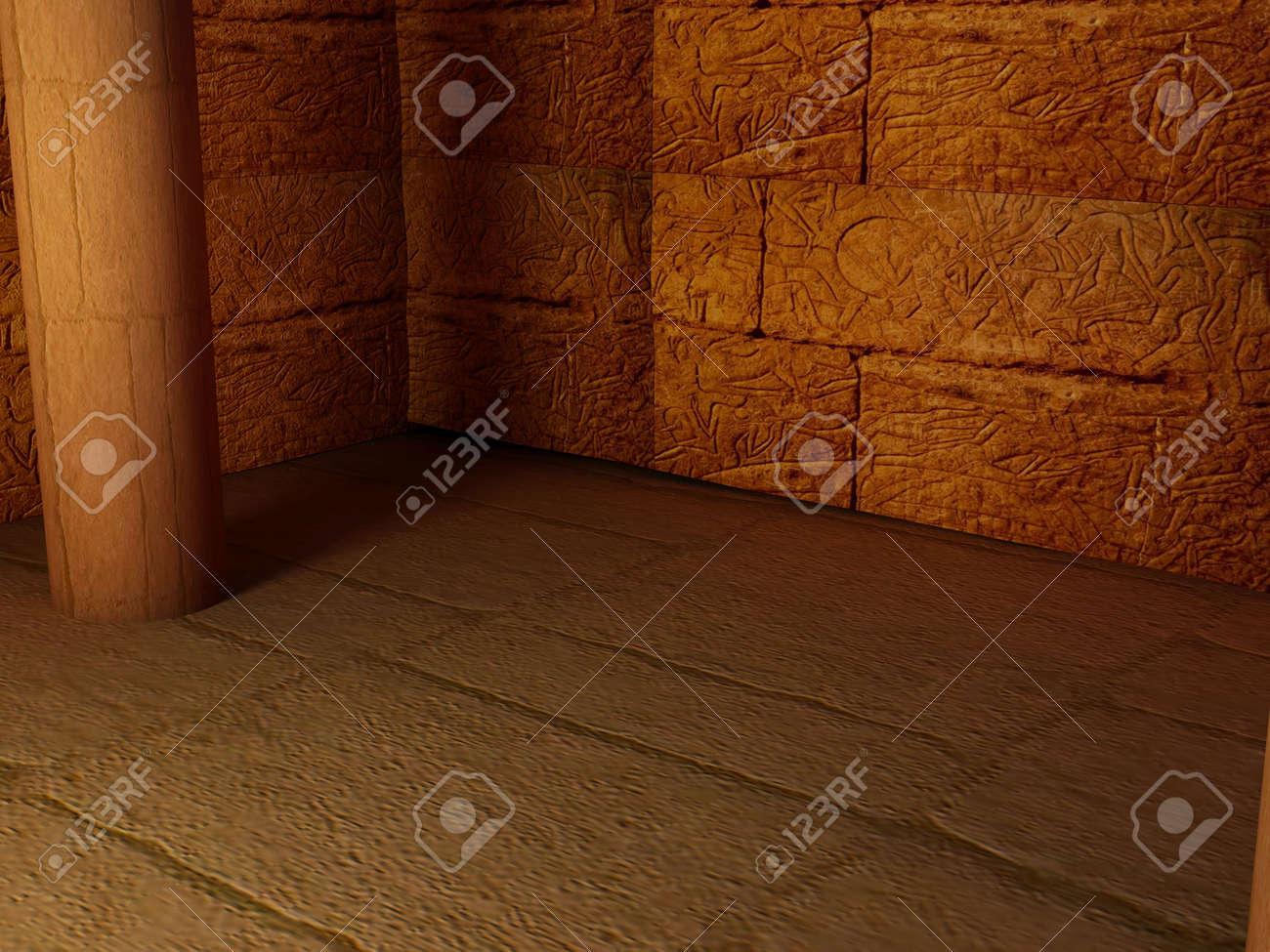 Bild Mit Hoher Auflösung Interieur Pyramide. Ägyptische Zimmer In ...