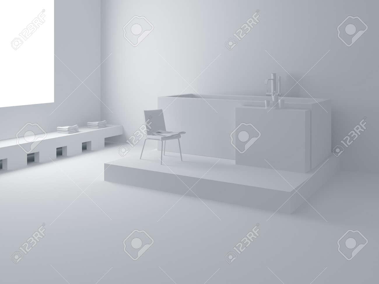 designer bathroom high resolution image interior a bathroom in modern style 3d