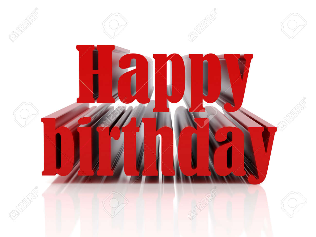 Redl text happy birthday. High resolution image. Stock Illustration - 6170182