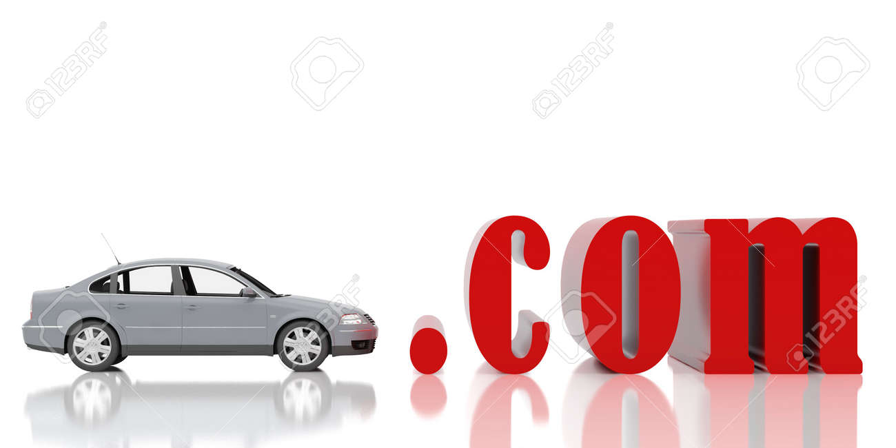 High resolution image. 3d illustration. Red symbol com. Stock Photo - 6170188