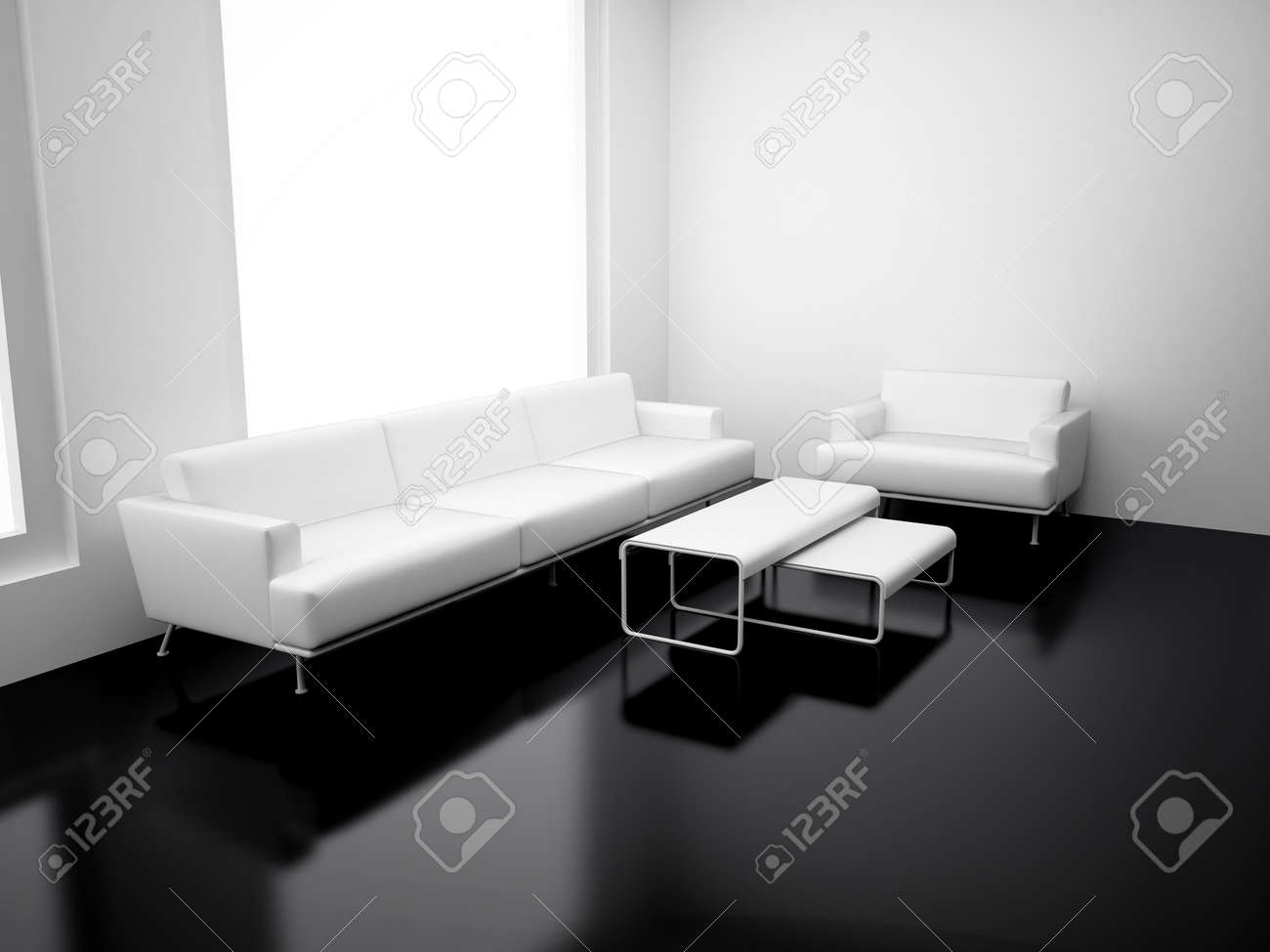 Modern Apartment With Living Room. High Resolution Image. 3d Render. Stock  Photo   Part 3