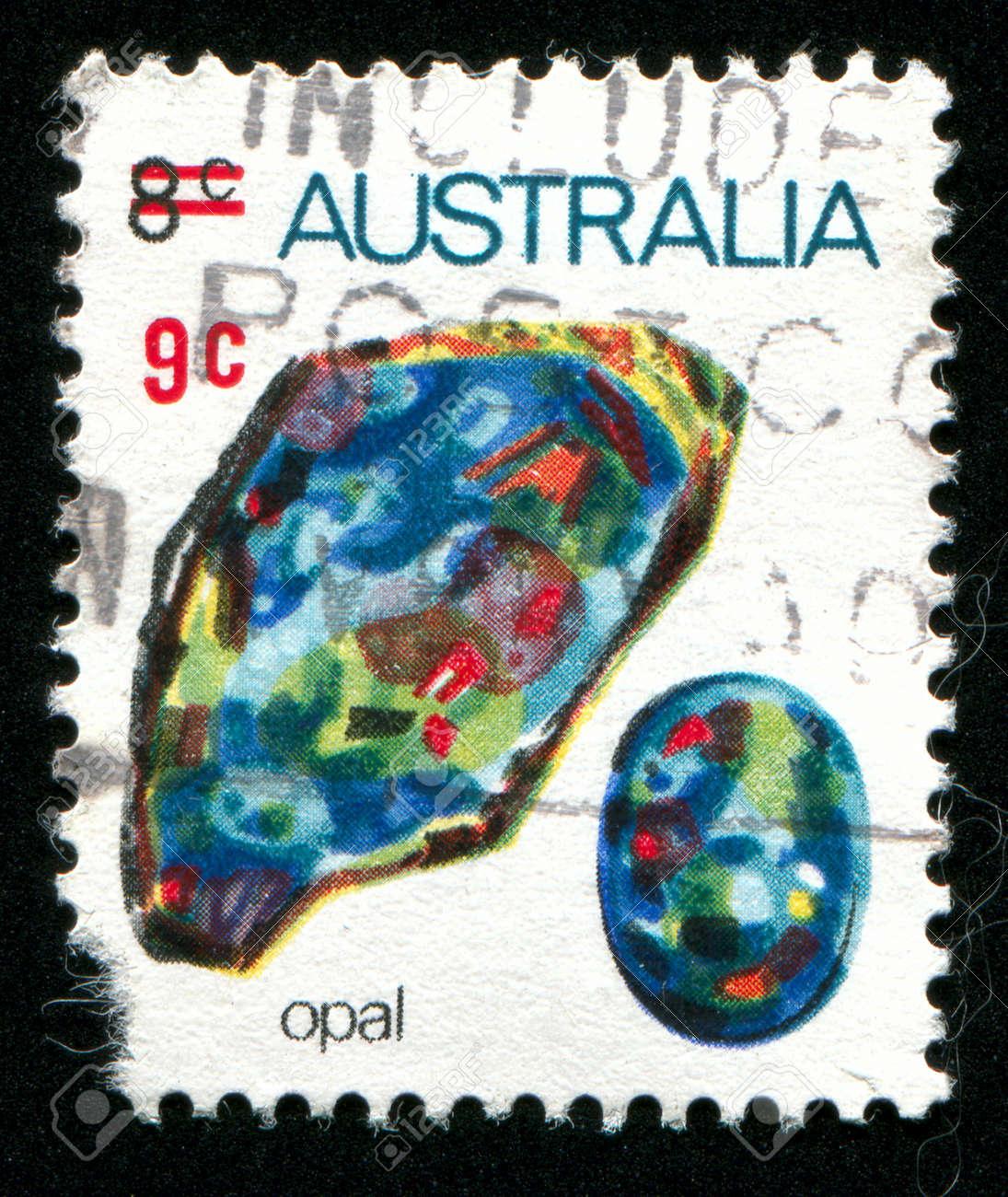 AUSTRALIA - CIRCA 1973: stamp printed by Australia, shows opal, circa 1973 Stock Photo - 8479994