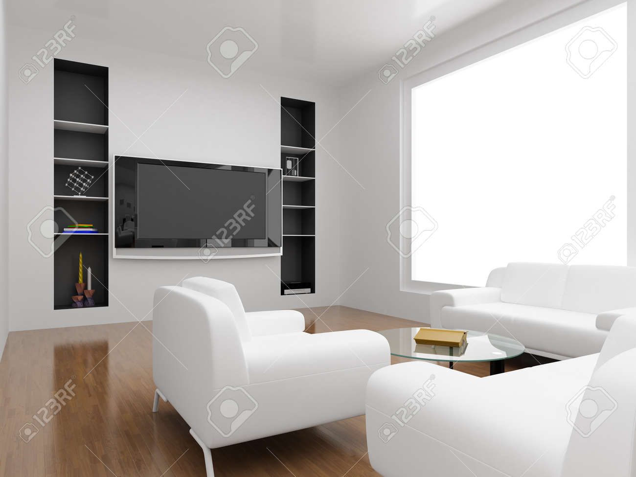 Interior Of The Modern Room. High Resolution Image. 3d Rendered  Illustration. Stock Illustration Part 42